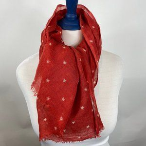 *J. Crew Star Red Scarf*